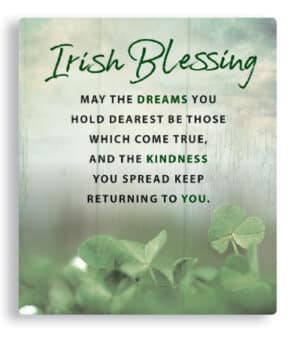 Irish Blessing -Porcelain Plaque