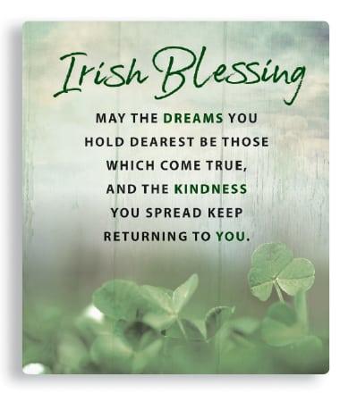Irish Blessing Procelain Plaque