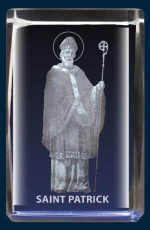 Saint Patrick Laser Engraved Crystal