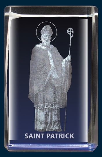 St Patrick Lazer glass