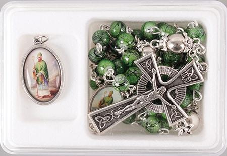 patrick rosary bead marble
