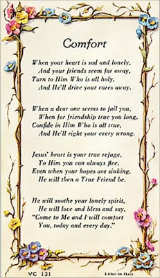 comfort prayer
