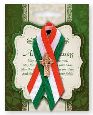 St.Patrick's Day Ribbon/Celtic Cross