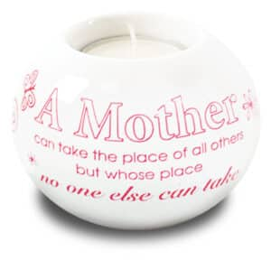 Porcelain Candle Holder / Mother
