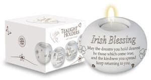 Resin Candle Holder & Candle – Irish Blessing