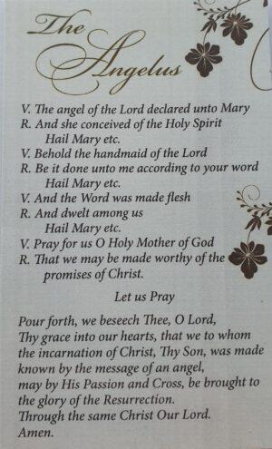 Angelus Prayer In Plastic Wallet