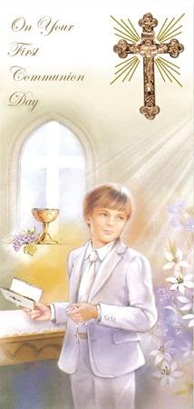 Communion Boxed Card/Boy