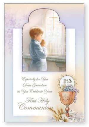 Communion Card/Grandson