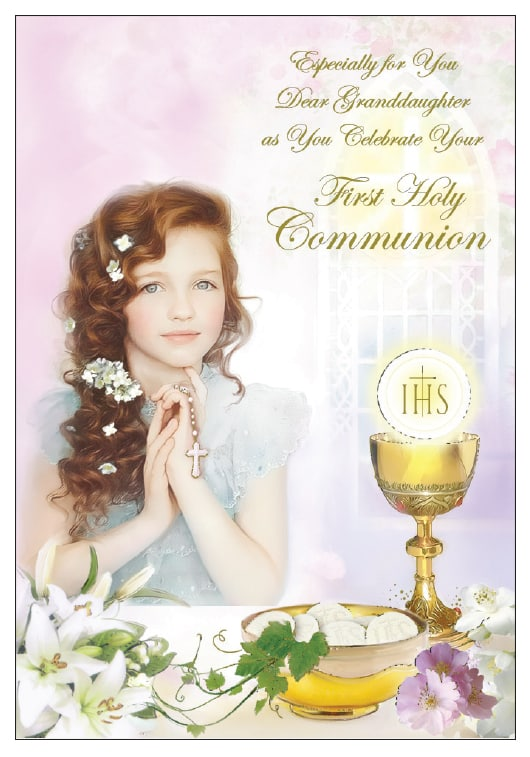 granddaughter communion card