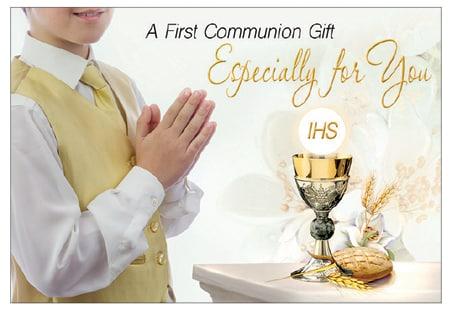 Boy communion money wallet card