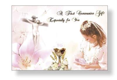 Communion girl money wallet card