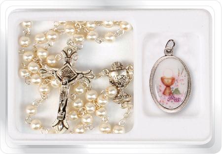 girl communion pearl Rosary