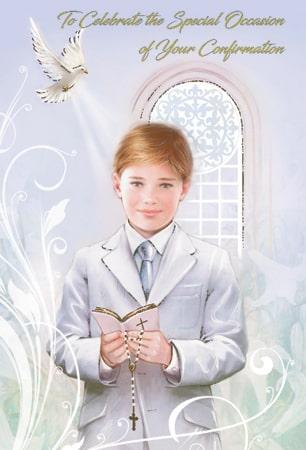 Confirmation Card/Boy
