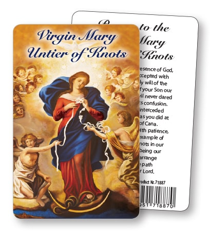 Our Lady of Knots Prayer Card