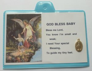 God Bless Baby – Miraculous Medal/Blue