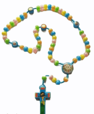 Childrens Knock Colourful Beads- Blue Rope