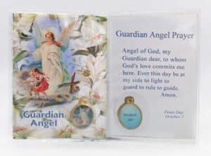 Guardian Angel Prayer & Medal