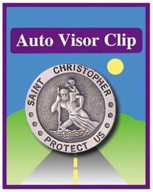 Car Visor Clip – St. Christopher
