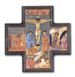 Wood Cross/Icon – Crucifixion 6 inch x 6 inch