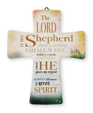 Porcelain Cross/Lord Is My Shepherd