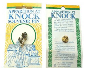 Knock Golden Rose Pin