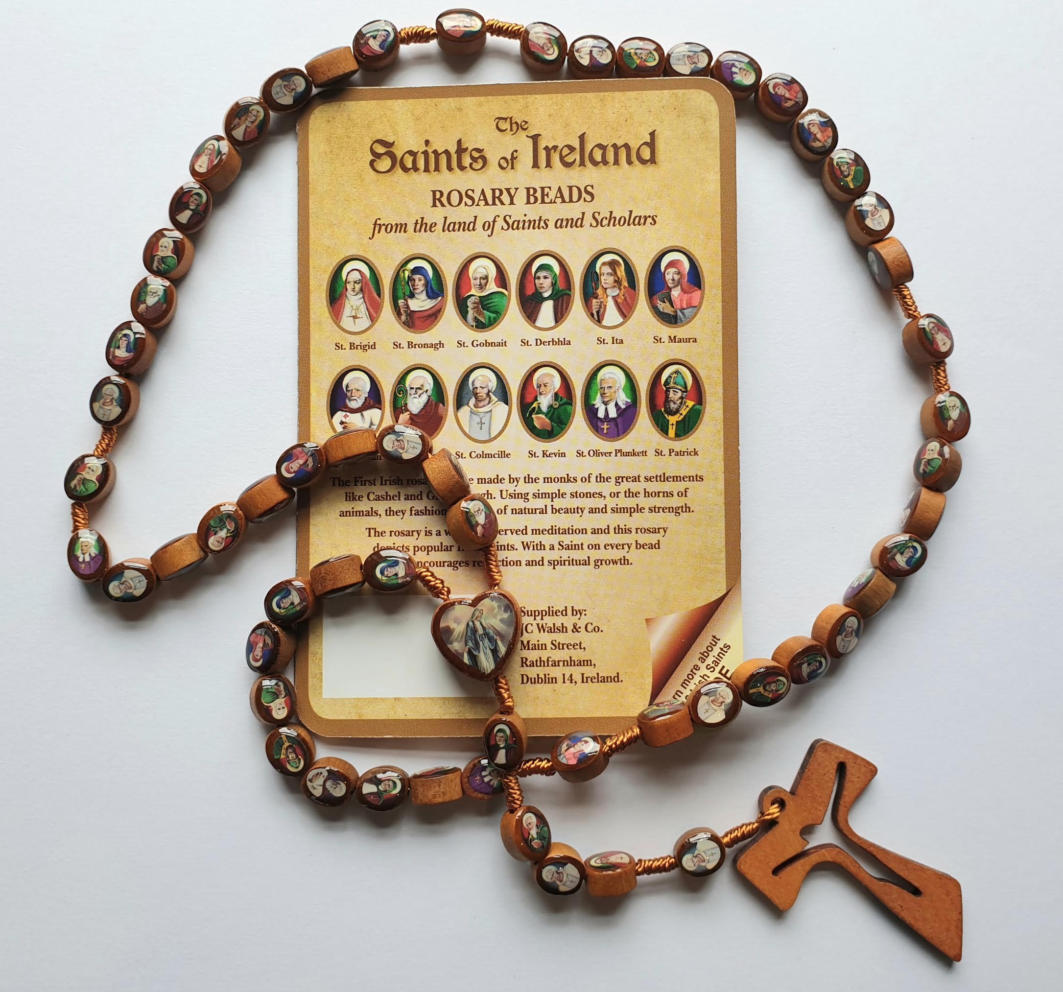 Saints of Ireland Rosary Beads