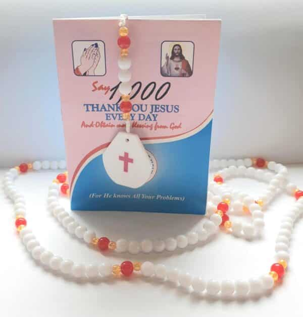 1000 Thank you Jesus Rosary Beads.