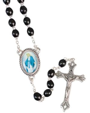 Loose Wood Rosary – Black /Miraculous