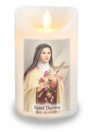 St.Theresa  LED Candle/Scented Wax/Timer/