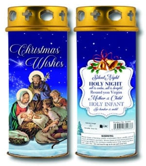 Christmas Blessings Candle –  Blue – Holy Night